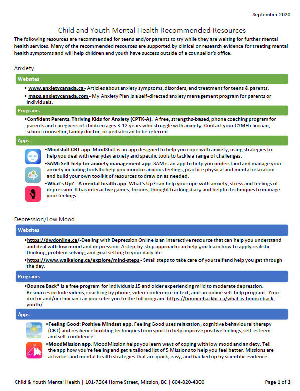 Child and Youth Mental Health Recommended Resources.png