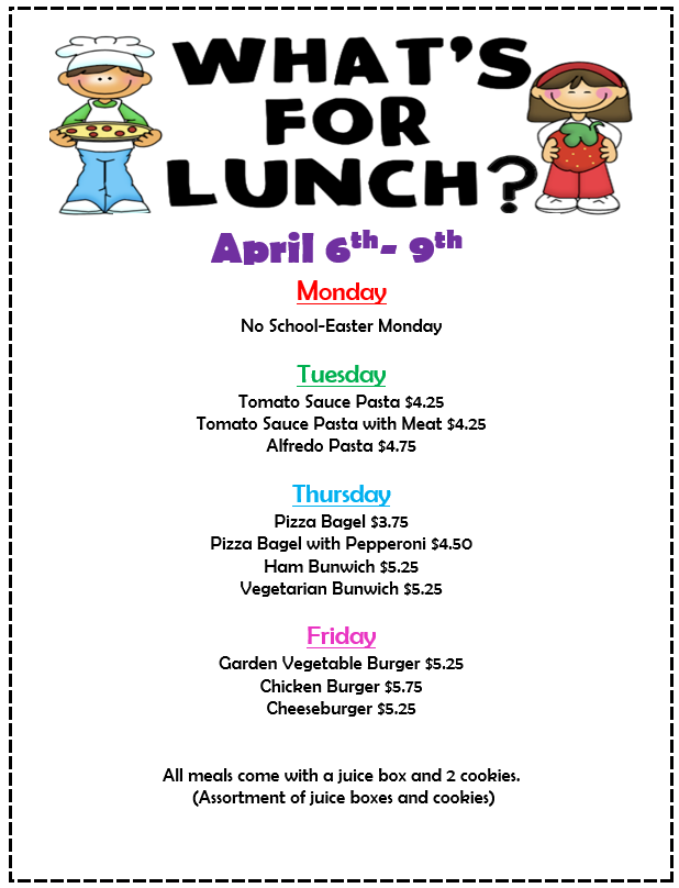 Whats for Lunch April 6-9.png
